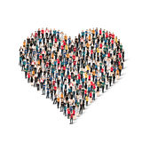 Group  people  form  heart  love Stock Photos