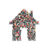 Group of people  form  house Stock Images