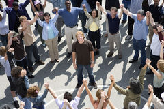 Group Of People Forming Circle Stock Image