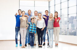 Group of people giving thumbs down Stock Image