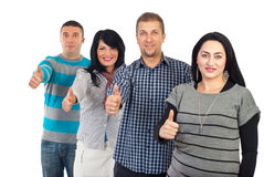 Group of people giving thumbs up Royalty Free Stock Images