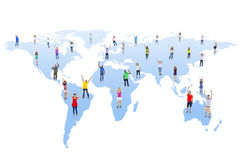 Group of People and Global Communications Royalty Free Stock Photo