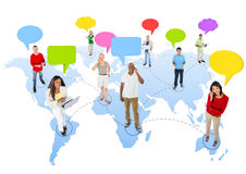 Group of People with Global Communications Royalty Free Stock Photography