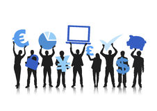 Group of People and Global Financial Concepts Stock Photo