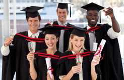 Group of people Graduating from College Royalty Free Stock Photography