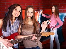 Group people with guitar. Stock Photography