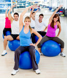 Group of people at the gym Royalty Free Stock Images