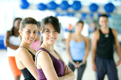 Group of people in a gym Royalty Free Stock Photo