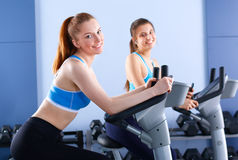 Group of people at the gym exercising on cross Royalty Free Stock Photography
