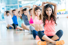 Group of people at the gym Stock Photos