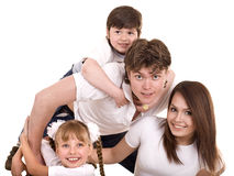 Group people happy family, children. Royalty Free Stock Photography