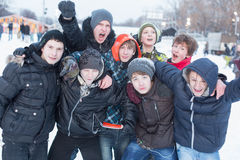 A group of people having fun Royalty Free Stock Photography