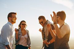 Group of People Having Fun Together Under the Sun Stock Photos