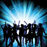 A group of people having a good time in disco. Cro Stock Image