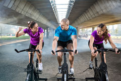 Group of people healthy exercise Stock Image