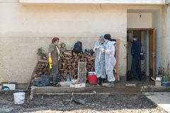 Group Of People Helping In Maglaj After Flood Natural Disaster Stock Image