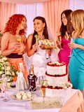 Group people at hen-party Royalty Free Stock Photo