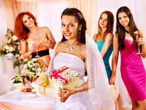 Group people at hen-party. Stock Image