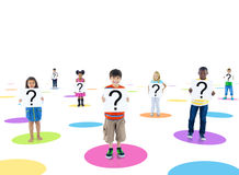 Group People Holding Board Children Concept Royalty Free Stock Photos
