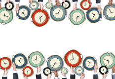 Group of People Holding Clocks Royalty Free Stock Photography