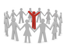 Group of people holding hands Royalty Free Stock Photos