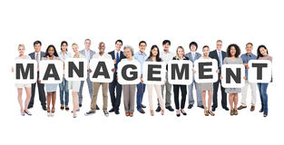 Group of People Holding Letters Management Royalty Free Stock Photography