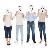 Group Of A People Holding Question Mark Sign Royalty Free Stock Photo