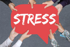 Group of people holding stress stressed business concept burnout Royalty Free Stock Photography