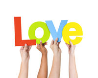 Group Of People Holding The Word Love Royalty Free Stock Photo