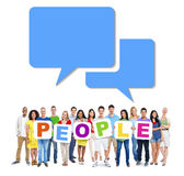Group Of People Holding Word People Stock Image