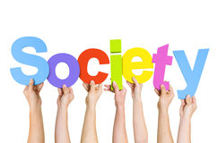 Group Of People Holding The Word Society Royalty Free Stock Photo