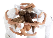 Group of people hugging Royalty Free Stock Images