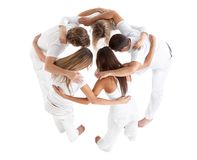 Group of people hugging Stock Photography