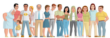 Group of people. Illustration on white background of a Group of people Stock Image