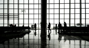 Group of People in the International Airport Stock Photos