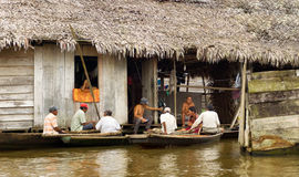 Group of People in Iquitos Stock Images