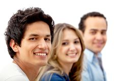 Group of people isolated Royalty Free Stock Photo