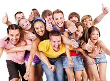 Group people  Isolated. Stock Photo