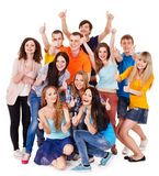 Group people isolated. Stock Photography