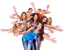Group people isolated. Stock Image