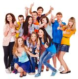 Group people isolated. Royalty Free Stock Photos
