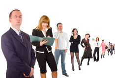 Group of people isolated over white.  Royalty Free Stock Photo
