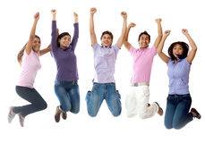 Group of people jumping Stock Image