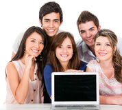 Group of people with a laptop Stock Photography