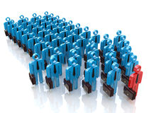 Group of people and leader. Leadership concept Stock Photography