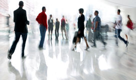 Group of people in the lobby business center Stock Image