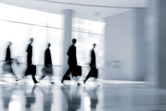 Group of people in the lobby business center Stock Photography