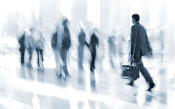 Group of people in the lobby business center Royalty Free Stock Images