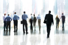 Group of people in the lobby business center Stock Photos