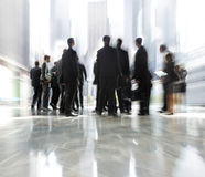 Group of people in the lobby business center Royalty Free Stock Image